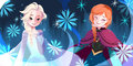 Elsa and Anna - frozen fan art
