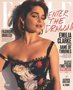 Emilia Clarke at Elle Magazine August 2017 Cover
