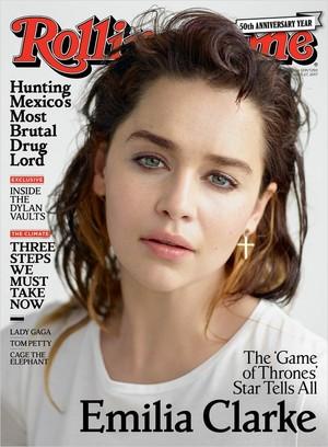 Emilia Clarke at Rolling Stone Magazine