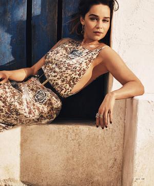 Emilia Clarke for Elle US Magazine - Magazine Scans
