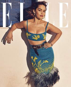 Emilia Clarke for Elle US Magazine