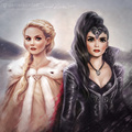 Emma and Regina by daekazu  - once-upon-a-time fan art