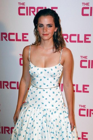 "Emma at the Paris premiere of ""The Circle"""