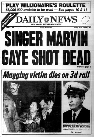 Front Page News Pertaining To Marvin Gaye