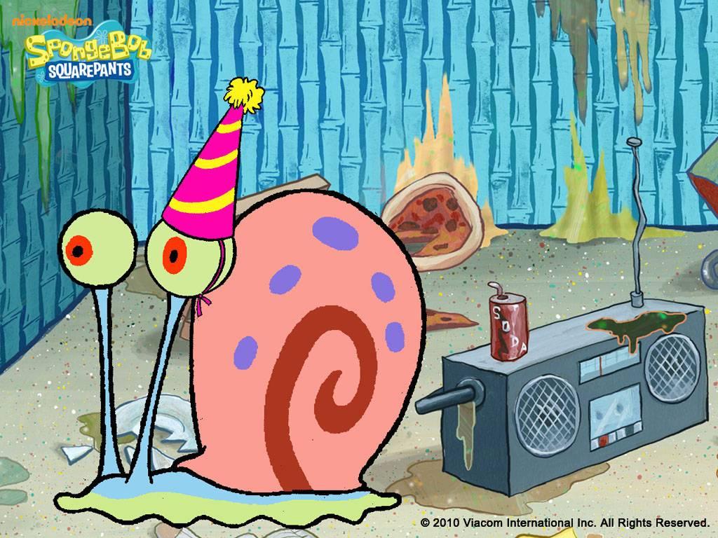 Spongebob Squarepants Images Gary Wallpaper Hd Wallpaper And