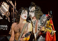 Gene and Paul (NYC) July 25, 1980 - kiss photo