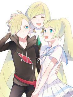 Gladion, Lusamine, and Lillie