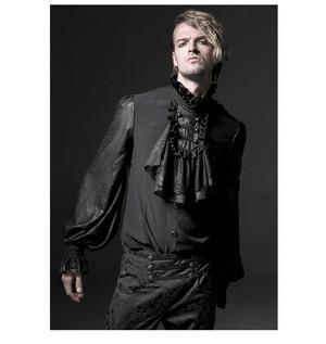 哥特式 Noble Palace Long Sleeve Black 花边 Embossed 衬衫 05