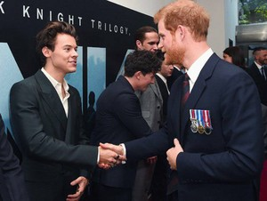 Harry and Prince Harry at the Dunkirk Premiere