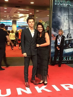 Harry and his mum at the Dunkirk Premiere