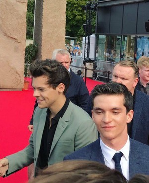 Harry at the French premiere of Dunkirk
