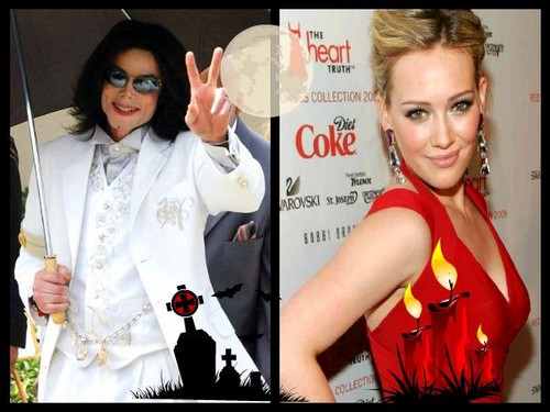 Lizzie McGuire wallpaper called Hilary Duff and the King of Pop