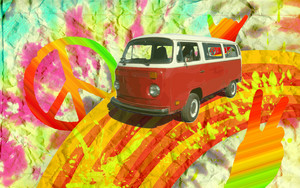 Hippie wallpaper 5