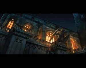 Hogwarts at night