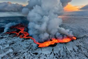 Holuhraun volcán Eruption, Iceland