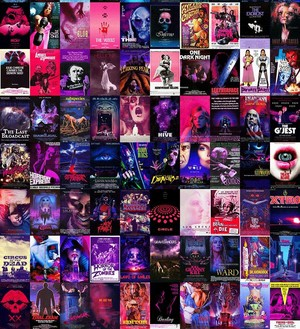 Horror Posters - Pink/Purple