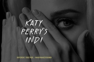 Promotional photo for Katy Perry's upcoming fragrance, INDI. #WhatMakesYouINDI