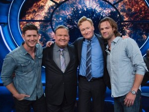 Jensen Jared with Andy Richter and Conan O Brian