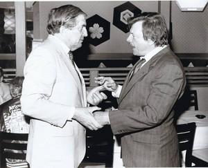 Jonathan Frid and John Karlen--late 1980s