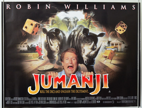 Jumanji দেওয়ালপত্র entitled Jumanji (1995) Poster