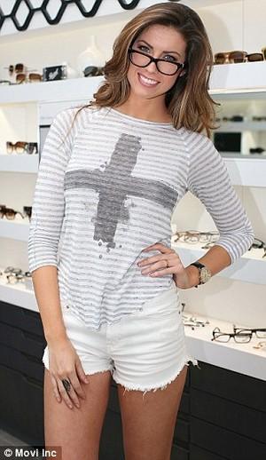Katherine Webb in glasses