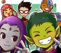 Kawaii Titans - teen-titans fan art