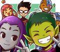 Kawaii Titans - teen-titans fan art