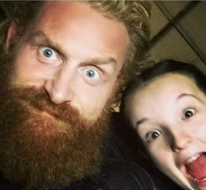 Kristofer Hivju and Bella Ramsey