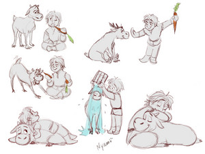 Little Kristoff and Sven