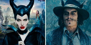 Maleficent(Angelina Jolie) and The Wolf(Johnny Depp)