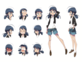 Marinette Expression Sheet Concept Art