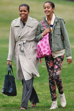 Michelle And Her Daughter, Malia