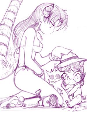 Mimi and Jewel 海滩