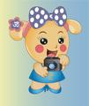 Miss La Sen takes photograph - miss-la-sen-lucky-doll photo