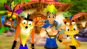 My प्रिय Naughty Dog Crash Bandicoot Aku Aku and Jak and Daxter