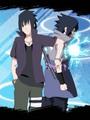 Naruto New VS  Old  Sasuke  - naruto fan art