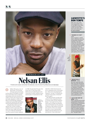 Nelsan Ellis - 'In Memoriam' from Entertainment Weekly