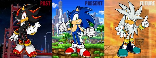 Sonic the Hedgehog wolpeyper called Past, Present and Future