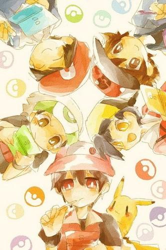 Pokemon Guys fond d'écran titled Pokémon Heroes
