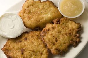 Potato pannekoeken, pannenkoeken