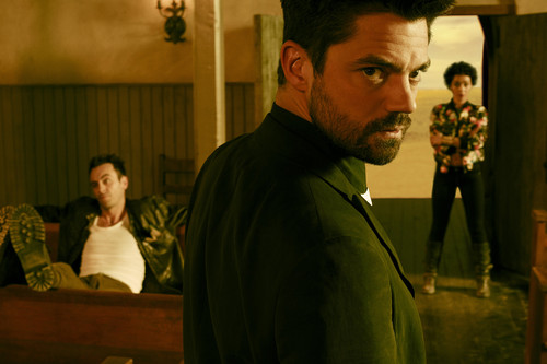 Vampire Cassidy (Preacher Character) Hintergrund called Preacher Season 1 Cassidy, tulpe and Jesse Official Picture