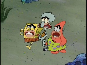 Prehistoric Spongebob, Patrick and Squidward