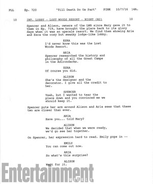 Pretty Little Liars: Read a script page from the series finale