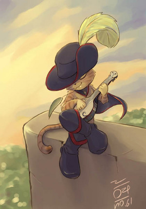 Puss plays the Banjo por aun61