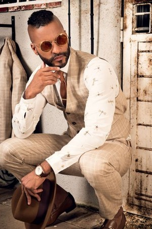 Ricky Whittle at Ajoure Men photoshoot by Manuel Cortez (2017)