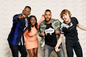 Ricky Whittle at BuzzFeed's SXSW American Gods' Photobooth by William Callan