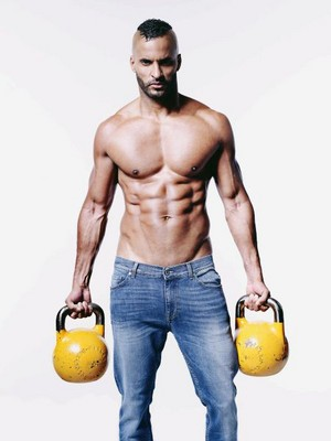 Ricky Whittle at Men's Fitness photoshoot by Glen Burrows (2017)