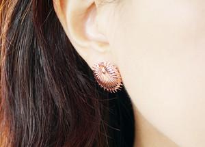 Rose goud Palm Leaf Earrings Antoni Gaudi hong kong 3d print contemporary art Vulcan Jewelry