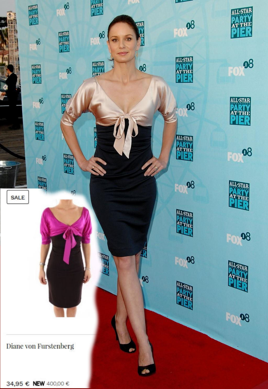 Sarah Wayne Callies > Dress: Diane von Furstenberg
