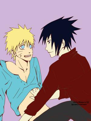 Sasuke:Naruto te are mine